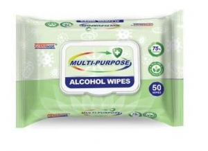Multi-Purpose Disinfecting Wipes  75% Alcohol 50/PK