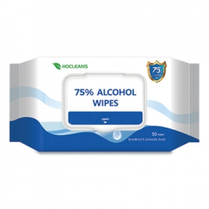 Personal Ethyl Alcohol Wipes, 6 x 8, White, 50/Pack